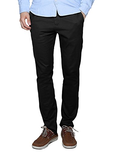 Match Men's Slim Fit Casual Pants (30, 8083 Black)