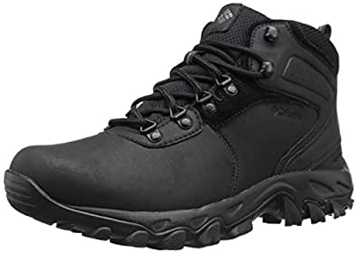 Columbia Men's Newton Ridge Plus II Wide Hiking Boot, Black/Black, 10 EE US