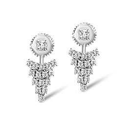 White Gold Lab-Created Diamond Earrings