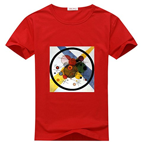 HKdiy Wassily Kandinsky Several Circles Custom Men's Classic t-Shirt 3hr27QXQx