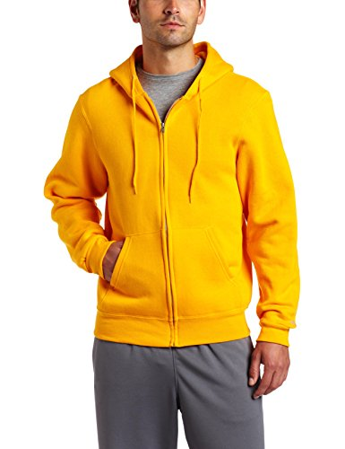 Soffe Men's Training Fleece Zip Hood Sweatshirt Gold Large