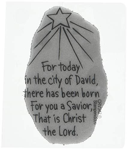 Cling Stamp, Savior Born ()