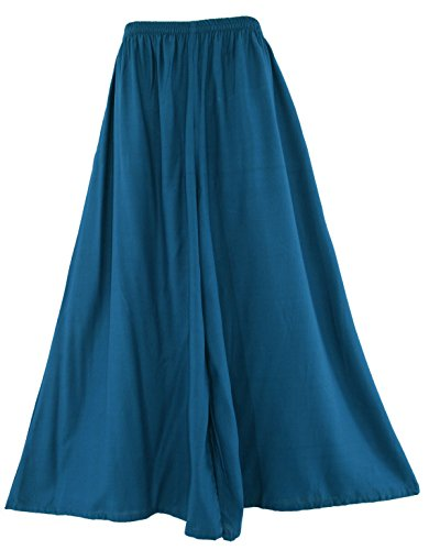 (Beautybatik Teal Blue Palazzo Wide Leg Pants Trouser 3X)