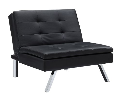 DHP Chelsea Convertible Accent Chair - Black