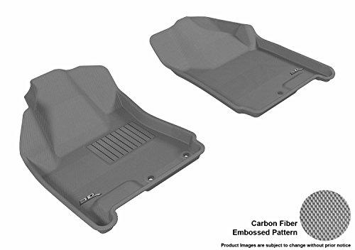 3D MAXpider All-Weather Floor Mats for Cadillac SRX 2010-2016 Custom Fit Car Floor Liners, Kagu Series (1st Row, Gray)