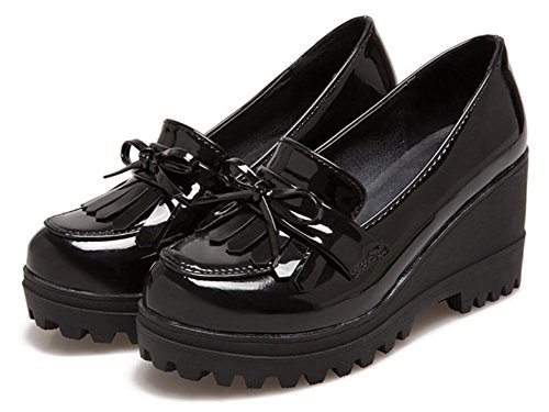 Pictures of Wedge Oxfords Shoes Women Girls Tassels Lolita 3