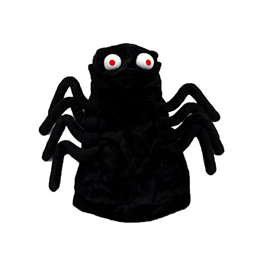 [LXLP Pet Clothes - Funny Spider Style Costume Hoodies Outfit Apparel Dress Up Halloween Decoration Prop Clothes for Dog Cat (Medium)] (Dog Spider Outfit)
