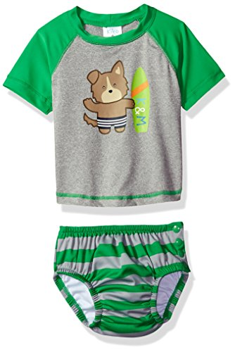 Kiko & Max Boys Baby Rashguard and Diaper Cover Swim Set