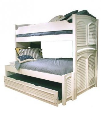 (American Woodcrafters Cottage Traditions Twin Over Full Bunk Bed)