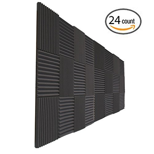 "24 Pack- Acoustic Panels Studio Foam Wedges 1"" X 12"" X 12"""