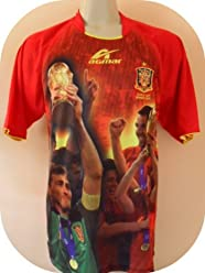 d85a82e2b WORLD CHAMPS SPAIN SOCCER JERSEY SIZE LARGE CHAMPIONSHIP OF THE WORLD