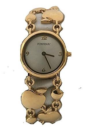 Montre Bracelet En Maillons Plaqué À 18 Or Fontenay cFKJlT1