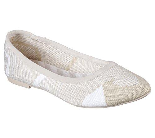 Skechers Cleo Wham Dame Gli På Ballerinasko Naturlig / Hvit 6,5 W