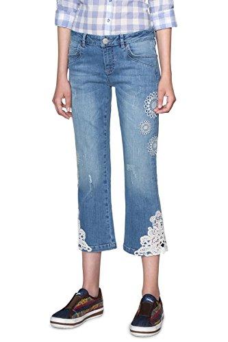 Desigual 5007 18swdd50 Survive Blu Jeans Demin Donna rZ40r