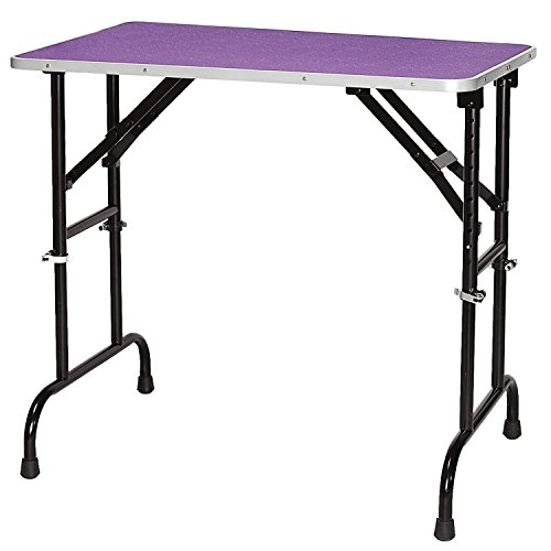 Master Equipment Adjustable Height Grooming Table for Pets, 36 by 24-Inch, Purple