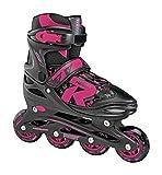 Roces 400811 Women's Model Jokey 1.0 Adjustable Inline Skate, US 5-8, Black/Pink