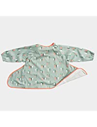 Tidy Tot Bib Unisex. One Size fits 6 months – 2 years. Waterproof. Adjustable Fit. Long Sleeved. Complete coverall. Award Winning Design. No spills! (Carrots)