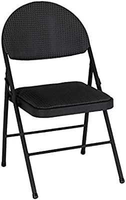 Excellent Cosco Xl Comfort Folding Chair Black Fabric 4 Pack Pabps2019 Chair Design Images Pabps2019Com