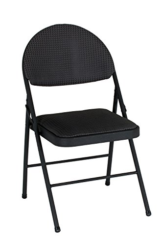 COSCO  XL Comfort Folding Chair Black Fabric (4-pack)
