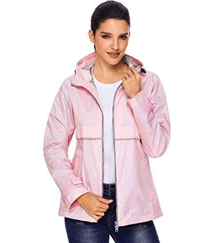 Outdoor Giacca Cappotto Protezione Chiaro Antivento Montagna Solare Donna Di Rosa Abbigliamento Impermeabile Da x4rwnqI4