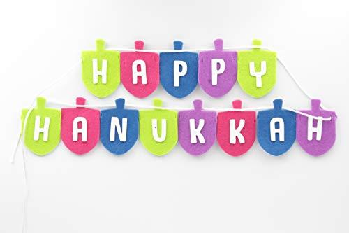 Dreidel Hanukkah Banner Craft Kit- Make Your Own Chanukah Dreidel Banner (Pack of 3)