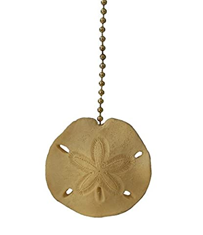 Beach sea shell SAND DOLLAR ceiling fan Pull light chain (Lamps For Bedrooms Beach)