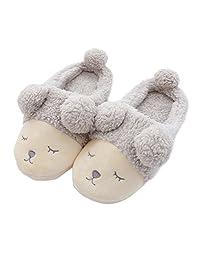 Gracefulvara Women Girls Soft Fleece Winter Warm Shoes Cute Sheep Indoor Home Slippers