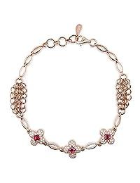 HXZZ Fine Jewelry for Women Sterling Silver Garnet Topaz Amethyst Citrine Bracelet