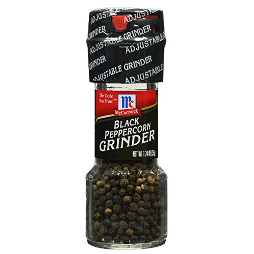 (McCormick Culinary Black Peppercorn Grinder, 0.85 Ounce (Pack of 6))