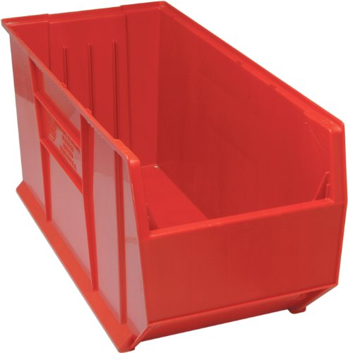 (Quantum QUS993 Plastic Storage Stacking Hulk Container, 36-Inch by 16-Inch by 17-Inch, Red, Case of 1)