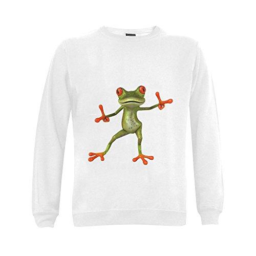 Mens Victory Frog Cotton And Polyester-Preshrunk Crewneck Sweatshirt
