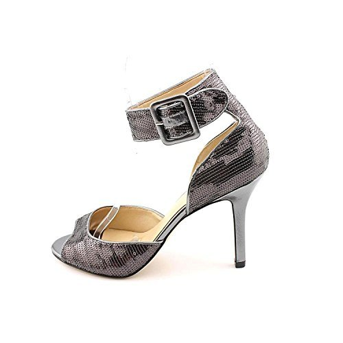 Marc Fisher Womens Lusbon Open Toe Special Occasion Ankle Pewter Size 95