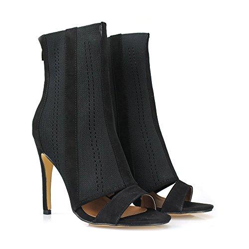 Negro Miss Mujer Con Zapatos Diva Tacón qww1Xg8zx