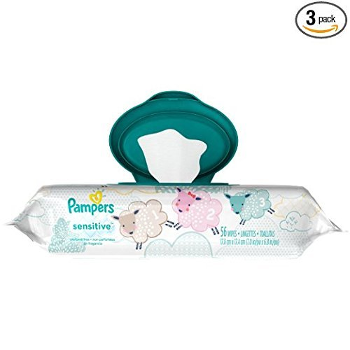 Pampers Sensitive Wipes Travel Pack 56 Count (Pack of 6) by Pampers (Image #1)