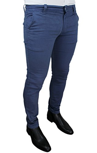 Casual Pantalone Invernale Blu Uomo Slim Aderente Fit Sartoriale Battistini Jeans C pwOnPq7vp