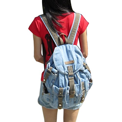 Jeans Canvas Women Donalworld Hiking Style5 Bag Backpack Shoulder Style6 q7p551HE