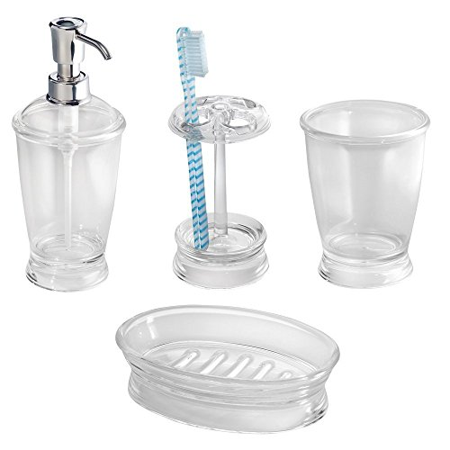mDesign Accessory Dispenser Toothbrush Tumbler