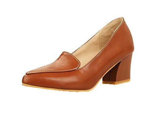 Correct Légeres Brun Chaussures Moolarmi à Tire Femme Fermeture Talon d'orteil xwYqT7R