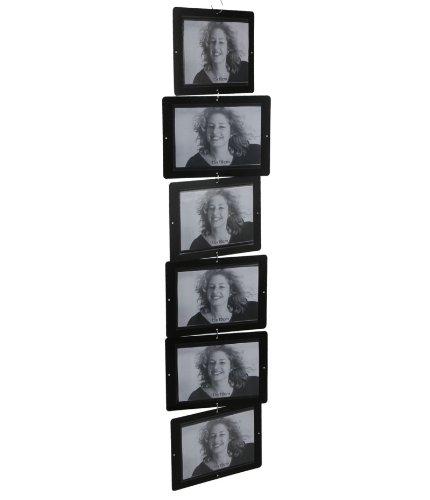 Fotoleiter für 6 Fotos, L 85 cm, schwarz