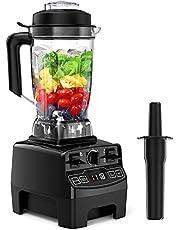 Hom Geek Blender blender, 2000 W, krachtige mixer voor smoothie/ijs/dessert/soep, 33.000 rpm, 2 l Tritan reservoir zonder BPA, 4 vooraf ingestelde programma's, 8 snelheden, roestvrij staal