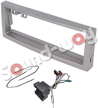 Sound-way Kit Montage Autoradio, Marco 1 DIN Radio de Coche, Adaptador Antena, Cable Adaptador Conector ISO, Llaves Desmontaje Compatible con Citroen ...