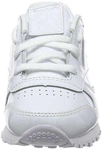 de Fille Cassé Reebok Chaussures Classic Blanc Gymnastique Patent Bianco 6qZwXPAwt