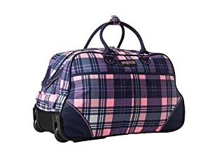 Amazon.com: JanSport Small Rolling Duffel Wheeled Travel bag Pink ...