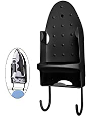 Oranlife Ironing Board Hanger Wall Mount Electric Iron Holder Ironing Board Rack Household Bathroom Shelf - for Max 5 inch Width - Black