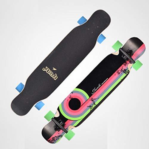 Longboards Skateboard,Bamboo Longboards for Cruising, Carving, Free-Style, Downhill and Dancingggboards Mini Longboard Cruiser,3