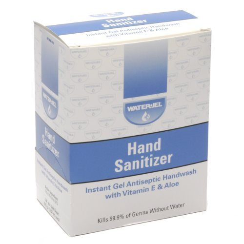 Instant Hand Sanitizer Gel Water Jel Packets 144/box by WATE