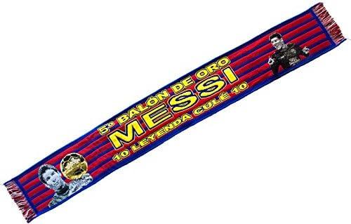 Bufanda FC Barcelona - Messi 5º Balón de Oro: Amazon.es: Deportes ...