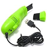 New USB Brush Flexible Rubber Keyboards Cleaner Mini USB Computer Vacuum Cleaner for for PC Laptop Computer