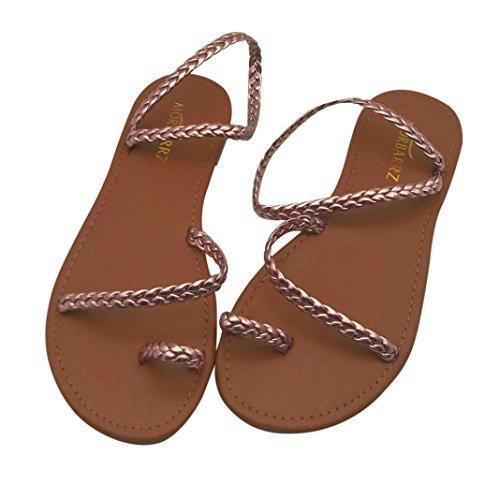 Gladiador del para Verano Oro Playa Plano Sandalias Sandalias De TalóN del Mujeres Mujer De Las De ¡Liquidación Chanclas Sandalias TiróN Bajo w47qzp