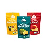 Mavuno Harvest Direct Trade Organic Dried Fruit Variety Pack, Mango, Pineapple, and Jackfruit, 3 Count